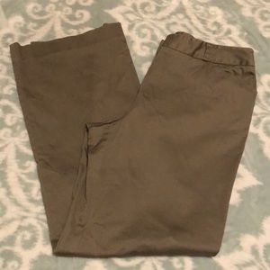 Attention Tan Dress Pants Wide Leg and Flat Front